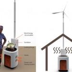 Calentador con energía eólica
