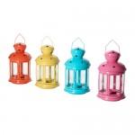 Farolillos de Ikea para velas pequeñas llamados Rotera